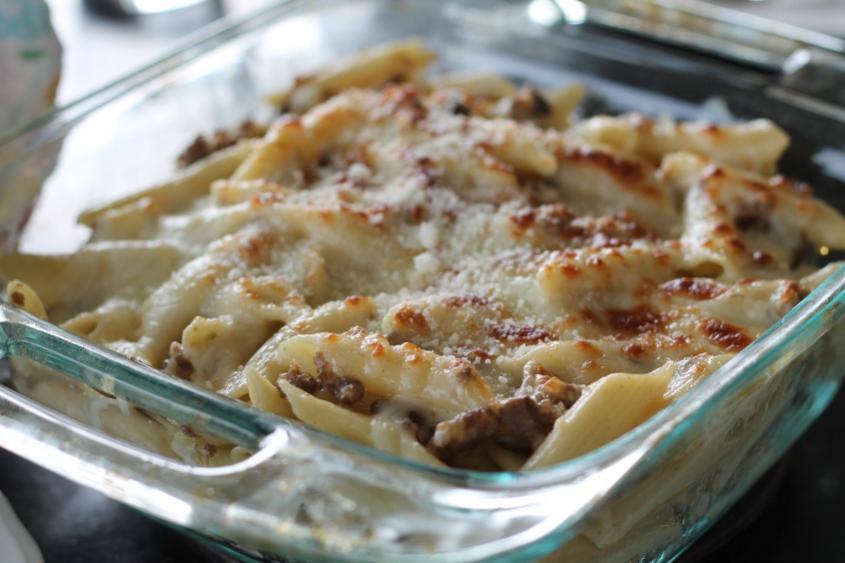 Italian Sausage and Mushroom Bake-italiansausagepasta-jpg