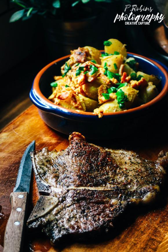 Pan seared Tbone steak with mustard potatoes-img_5856logo-jpg