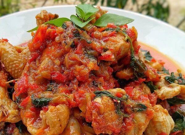 Manadonese Chicken Rica with Basil-resep-ayam-rica-rica-kemangi-jpg