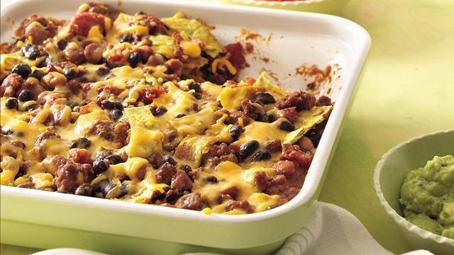 Low-Fat Beef and Bean Tortilla Bake-image-jpg