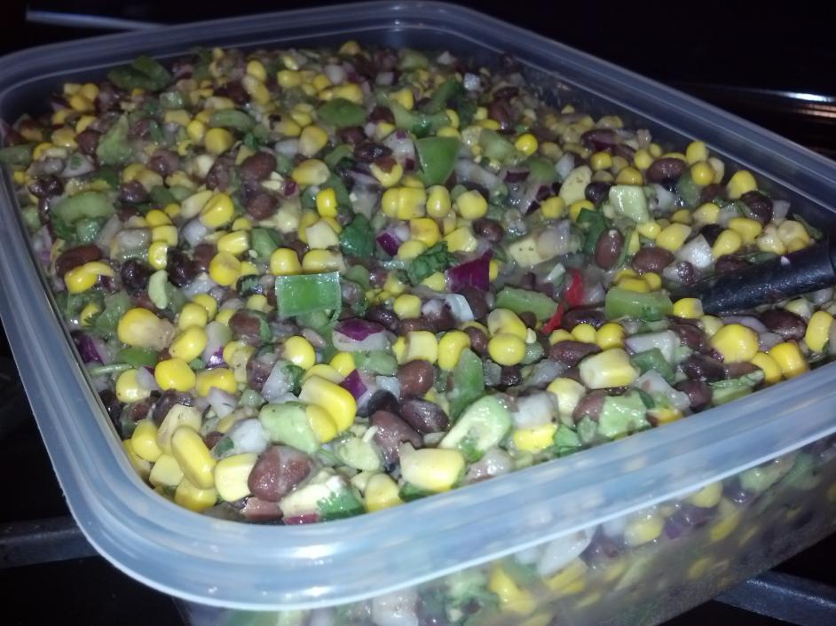 Tangy bean and corn salad/salsa-image-jpg